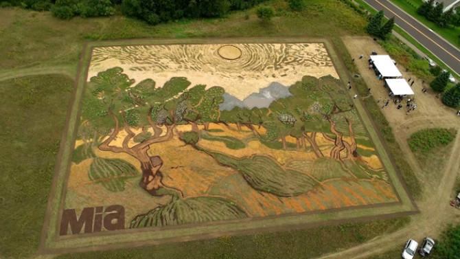 Картина Ван Гога на поле от Стэна Херда