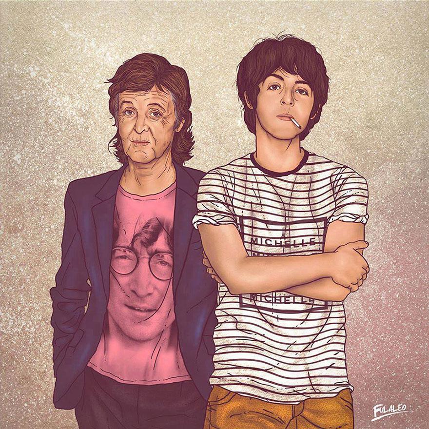 Старые знаменитости с их молодой версией
