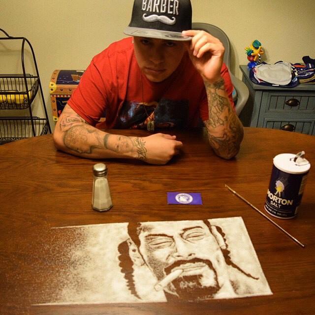 Портрет Снуп Догга из соли от Роба Феррела