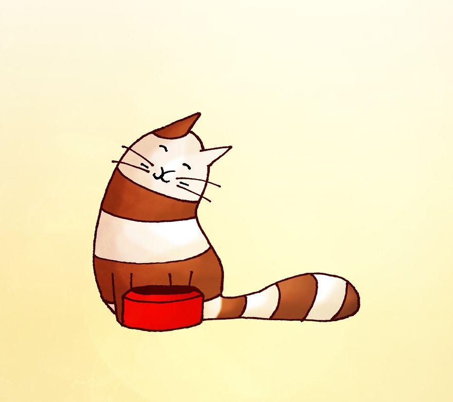 Распорядок дня кота