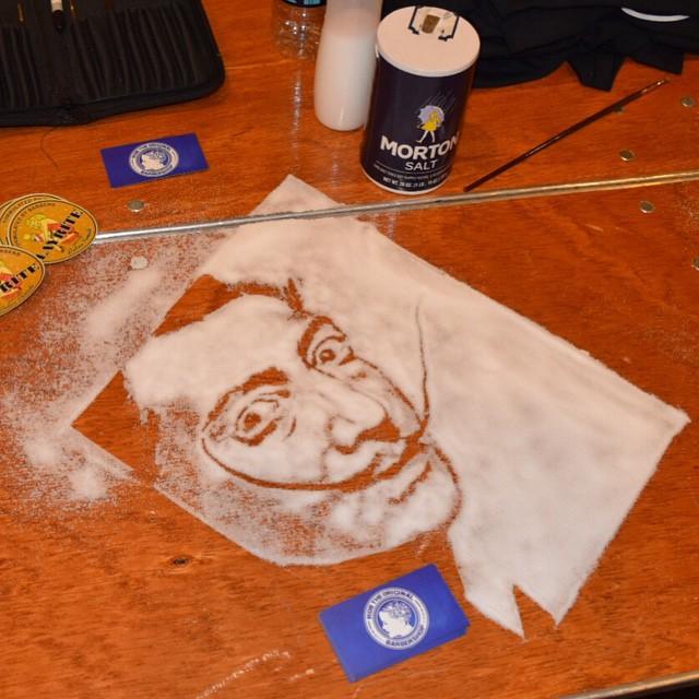 Портрет Сальвадора Дали из соли от Роба Феррела