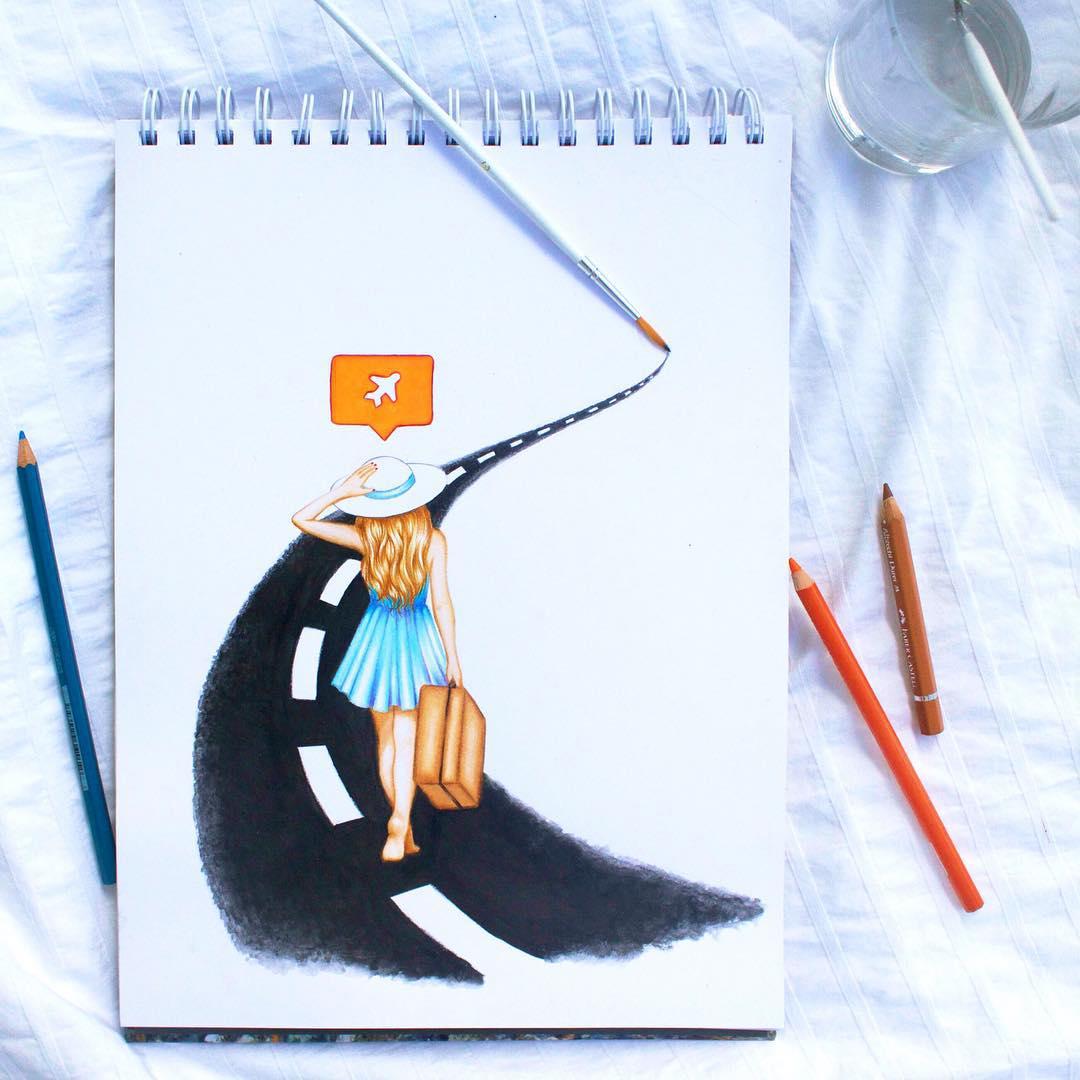 Реальные объекты для завершения иллюстраций от Кристины Уэбб