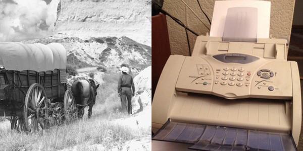 Факсимильный аппарат и путешествие по «Орегонской тропе» в США