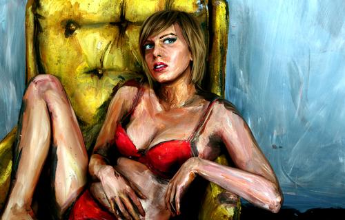 Художница Алекса Мид превращает людей в необычную картину