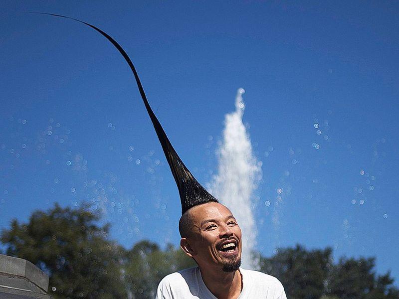 Самый высокий в мире ирокез - Казухиро Ватанабе (Kazuhiro Watanabe)