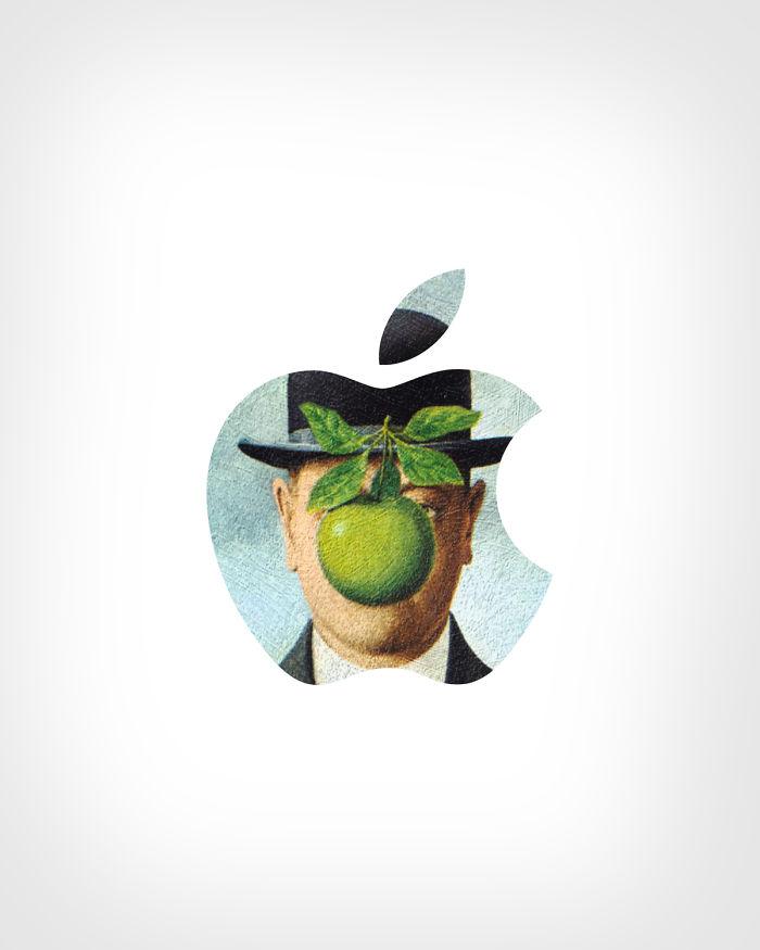 Apple - «Сын человеческий»,Рене Магритт