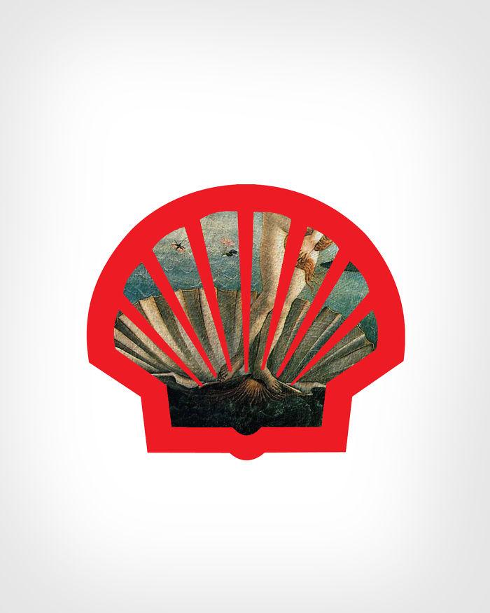 Shell + «Рождение Венеры», Сандро Боттичелли