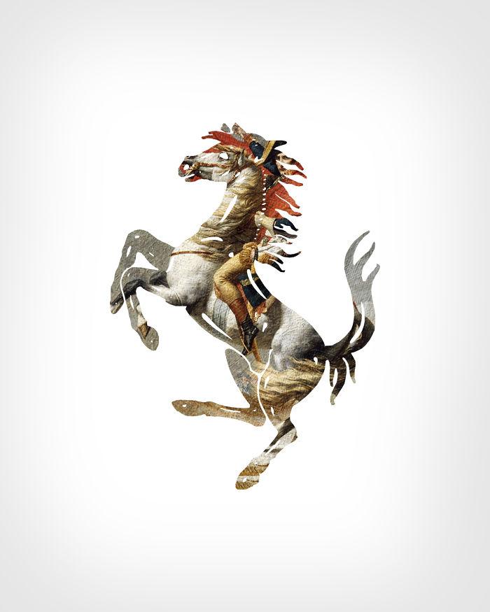 Ferrari + «Наполеон на перевале Сен-Бернар»,Жак-Луи Давид