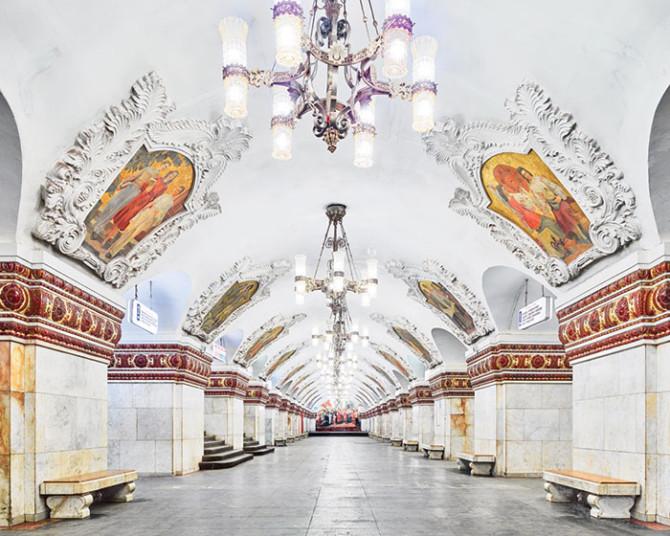 Российские станции метро без людей от фотографа Дэвида Бурдени