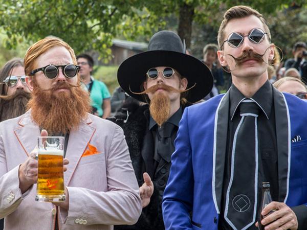 Участники Чемпионата мира бород и усов 2015