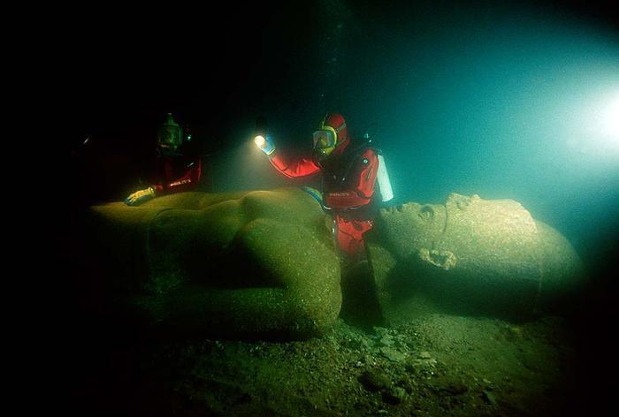 Подводные города, Утонувший город Гераклион
