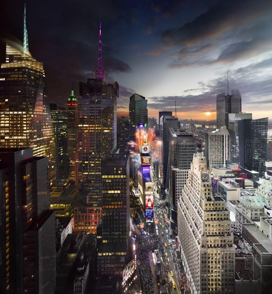 Таймс-Сквер, Нью-Йорк, Новый год