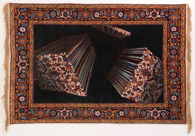 Фаиг Ахмед создаёт «стекающие» современные ковры из традиционного азербайджанского текстиля