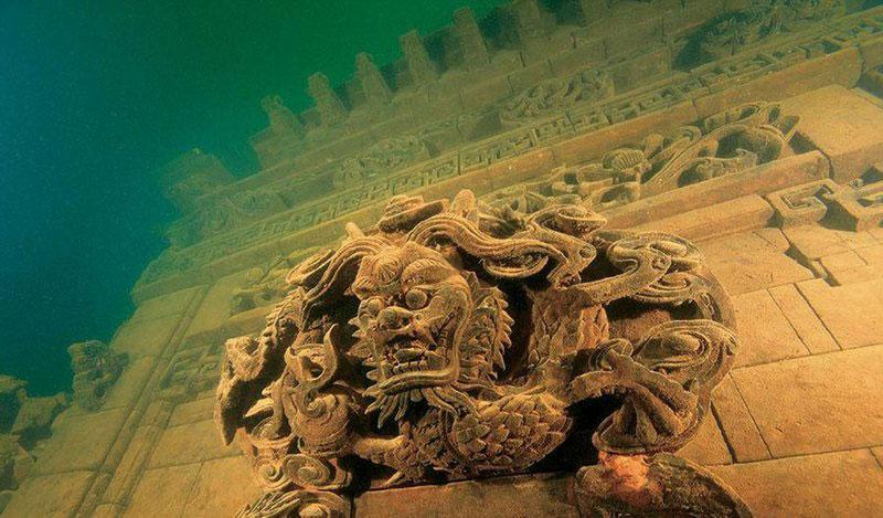Подводные города, Город Льва, озеро Цяньдаоху, Китай