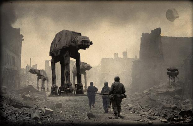 Исторические фото, на которых наша вселенная смешалась со вселенной Звёздных Войн
