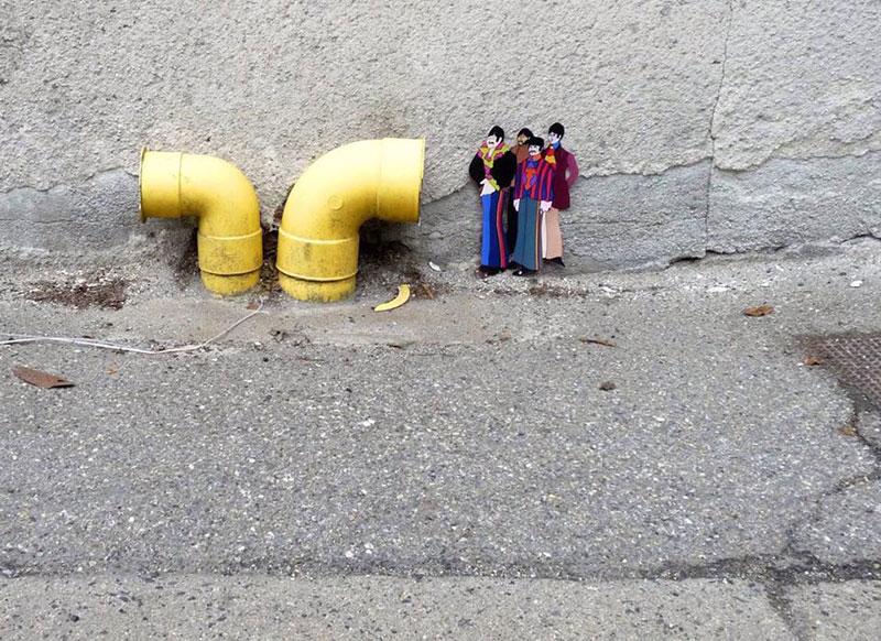Уличное искусство от художника OakOak