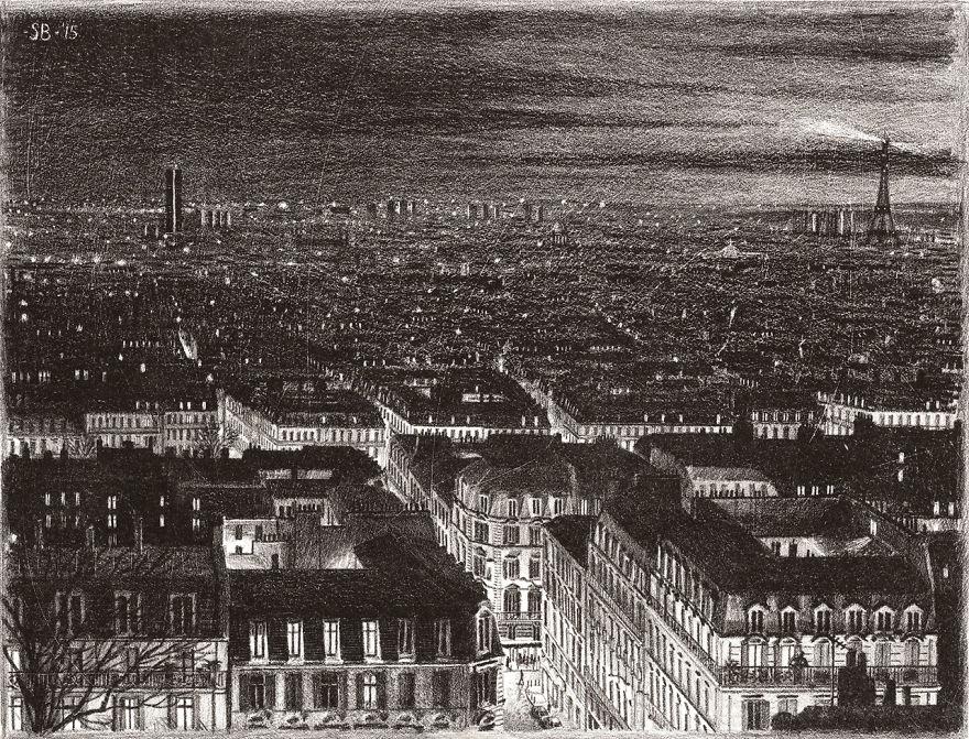 Нарисованный вечер в Париже