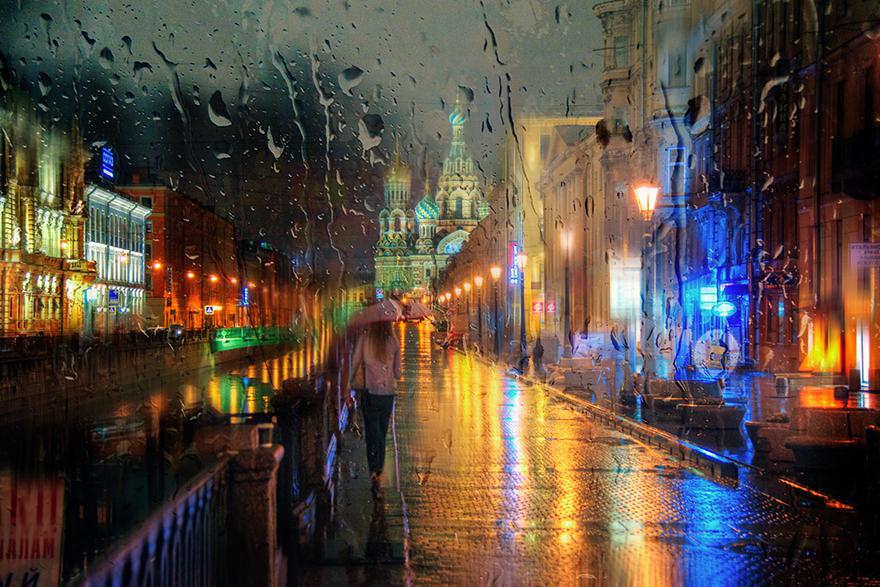 Фотографии дождливого Санкт-Петербурга от Эдуарда Гордеева