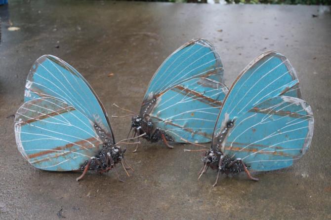 Необычные металлические насекомые от Джона Брауна