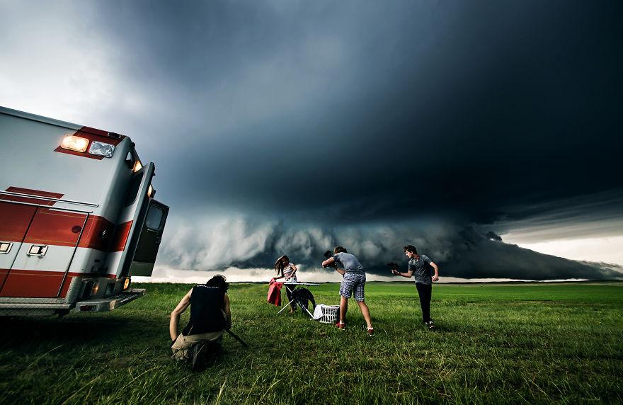 Проект об изменении климата от профессиональных охотников за ураганами