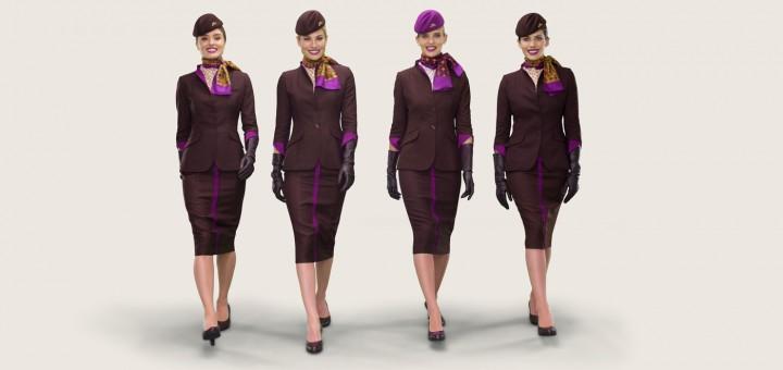 Униформа стюардесс Etihad