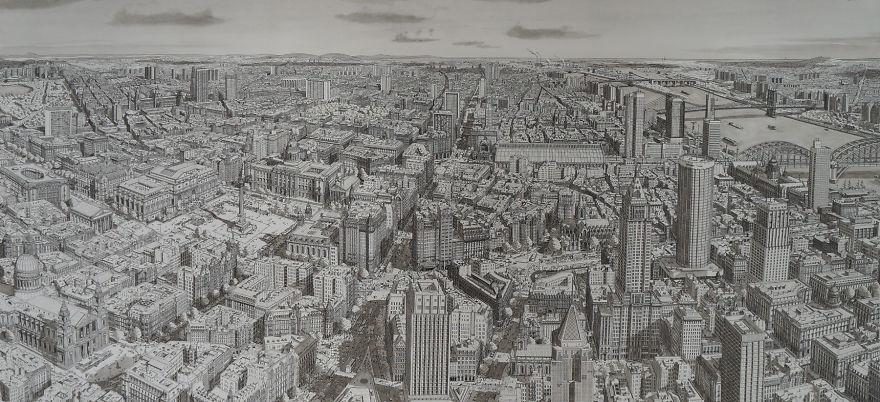 Нарисованный воображаемый город
