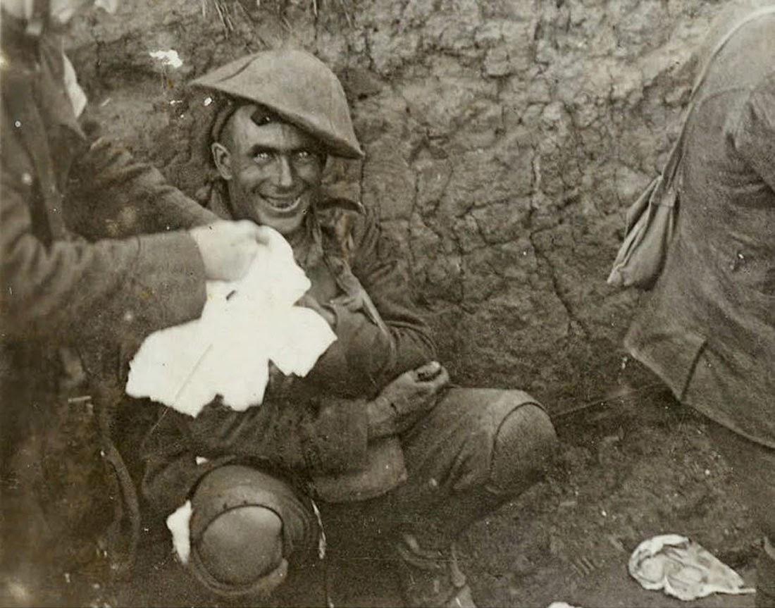Контуженный солдат, 1916