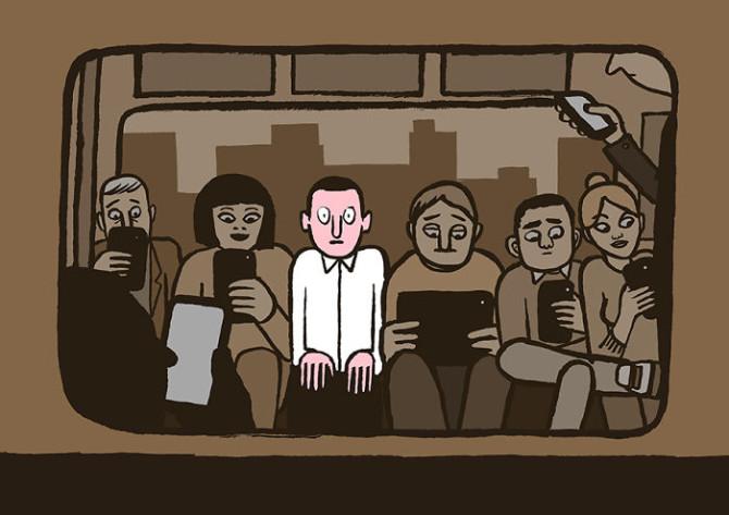 Саркастические иллюстрации о том, как зависимость от техники изменила нашу жизнь