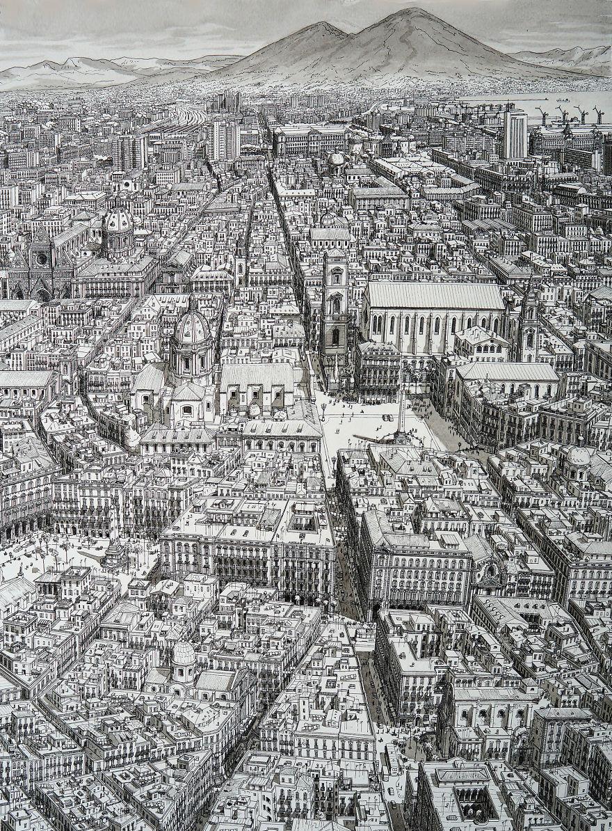 Нарисованный по памяти СпаккаНаполи, Неаполь