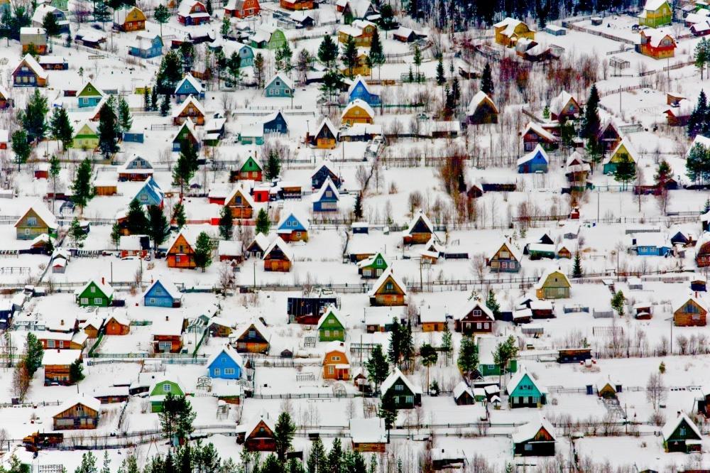 Курортный посёлок рядом с Архангельском, Россия