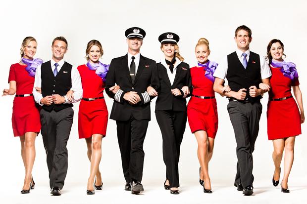 Униформа стюардесс Virgin Australia
