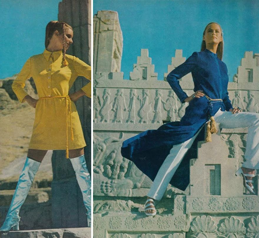 Мода иранских женщин в 1970-х годах