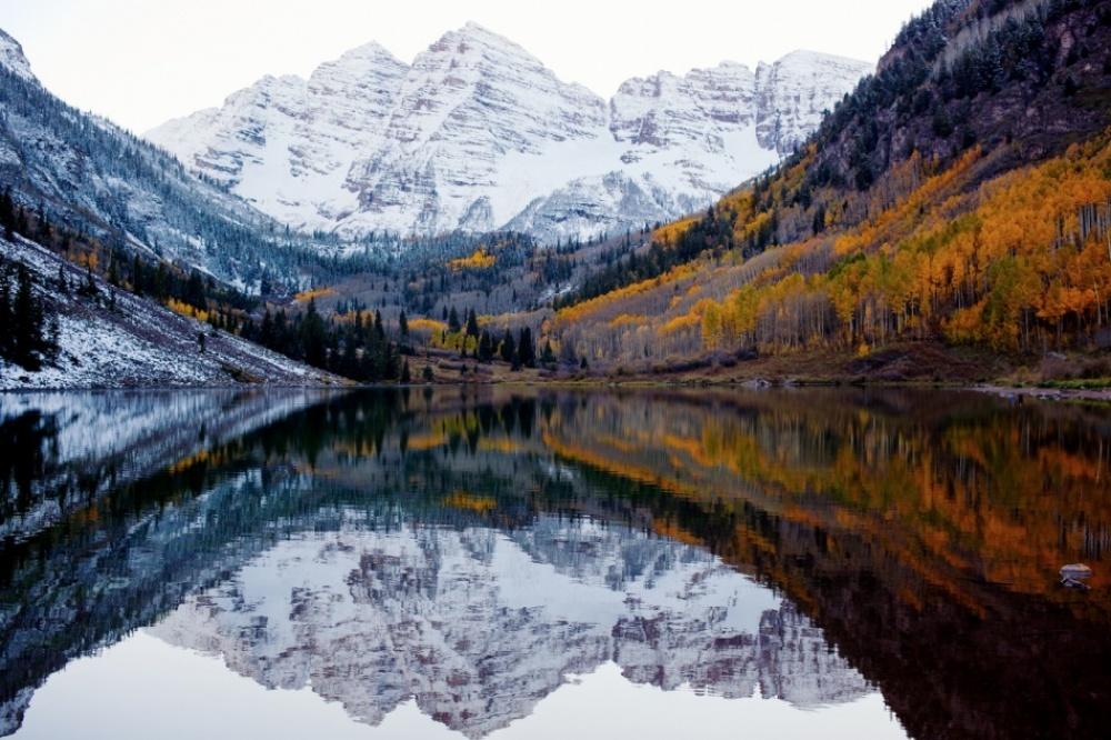 Встреча осени и зимы,Колорадо, США