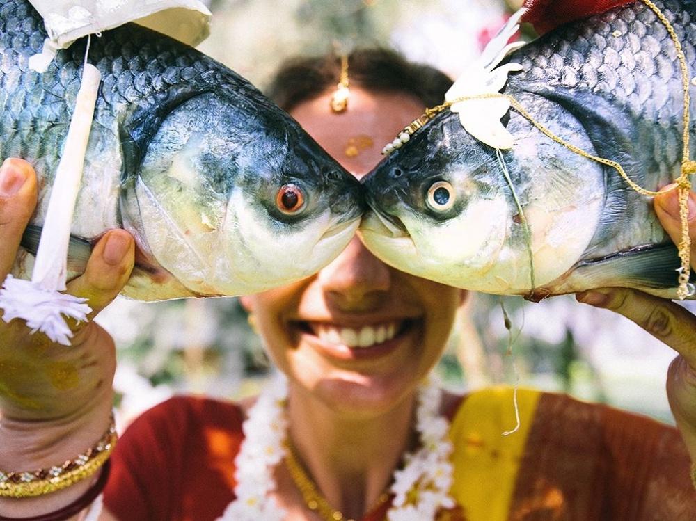 Глаза рыб, Махабалипурам, Индия