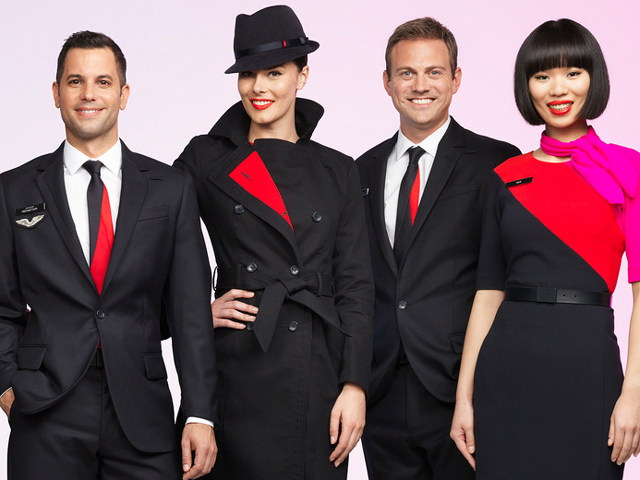 Униформа стюардесс Qantas