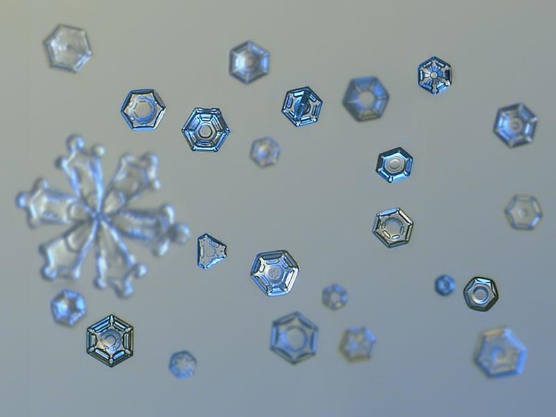 Макро-фотографии снежинок Алексея Клятова