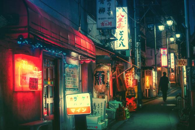 Необычные фотографии токийских переулков