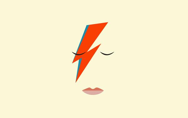 Дань уважения Дэвиду Боуи с помощью минималистических постеров