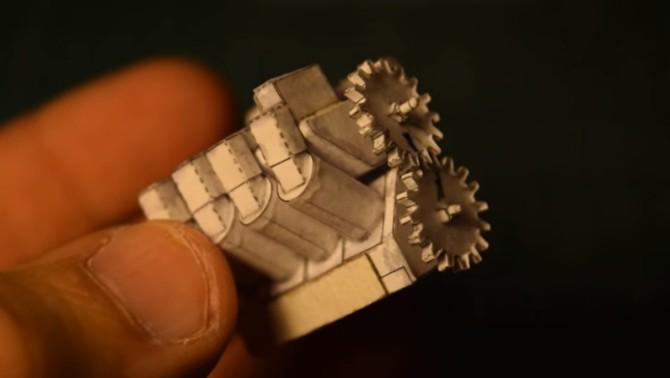 Инженер создаёт функциональный миниатюрный двигатель V8 из бумаги