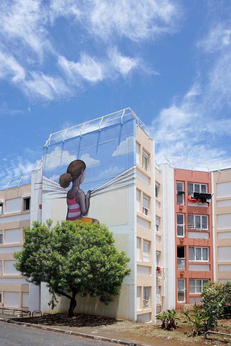 Красочный стрит-арт на острове Реюньон