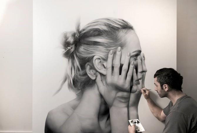 Эти гиперреалистичные картины отражают, как социальные медиа делают нашу конфиденциальность невозможной