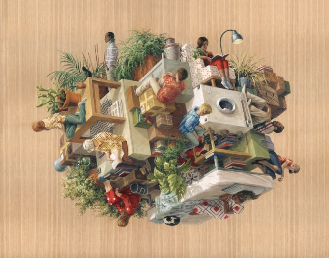 Жизнь общества в cюрреалистической живописи от Синты Видаль