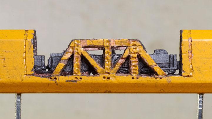 Поезд в туннеле из карандаша от Синди Чинн
