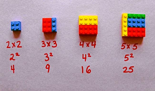 Квадратные числа с LEGO