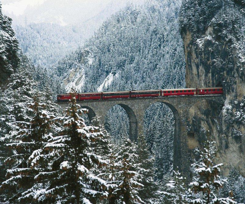 Виадук Ландвассер, Швейцария