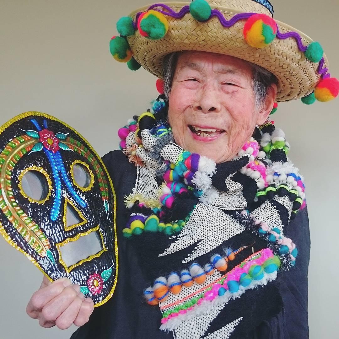 93-летняя модель модельера Чинами Мори