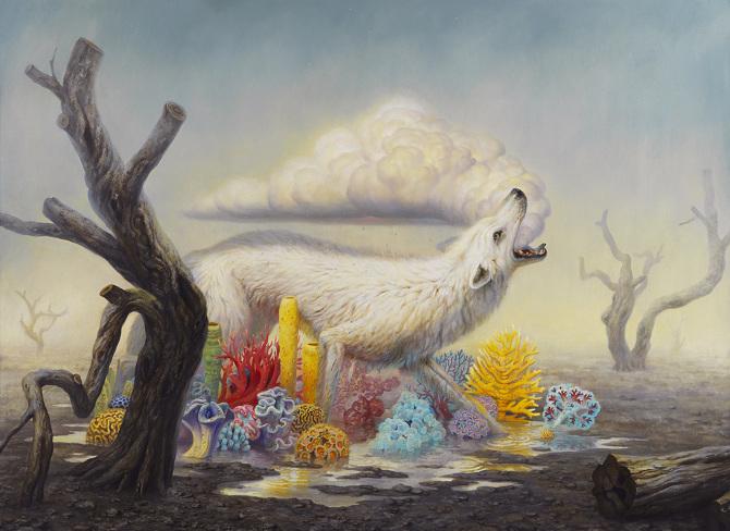 Фантастические картины животных на территории постапокалиптических сред