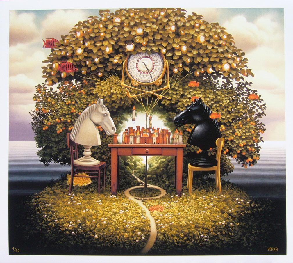 Сюрреалистические миры в картинах Яцека Йерка