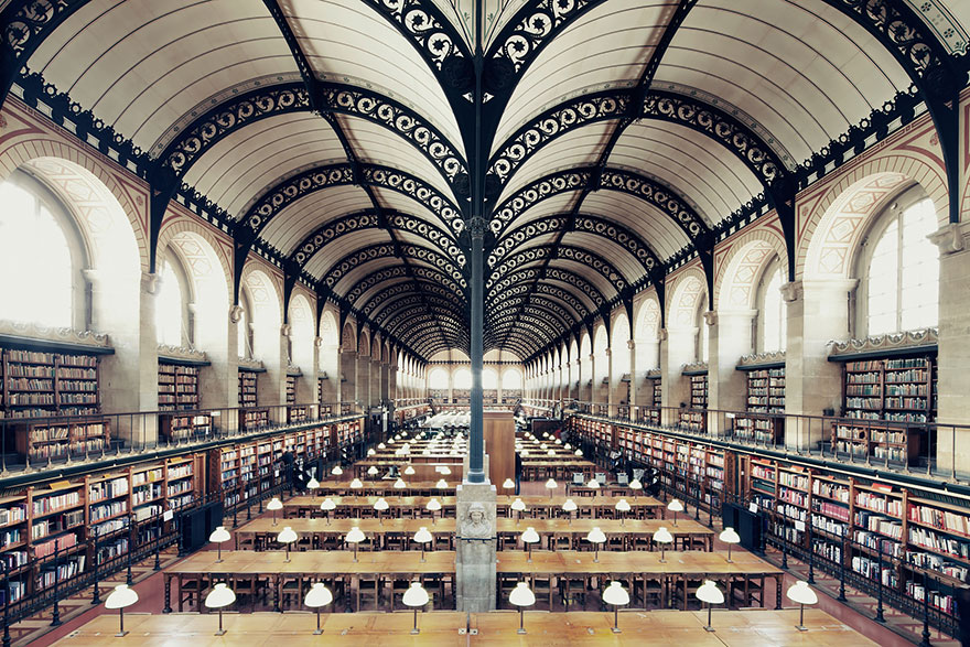 БиблиотекаСент-Женевьев,Париж