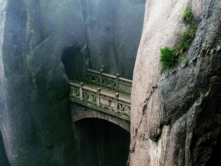 Мост на горе Хуаншань, провинция Аньхой, Китай